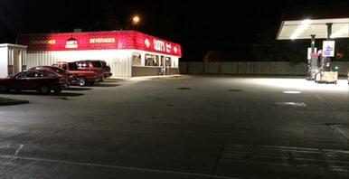 Casey's store after LED lights